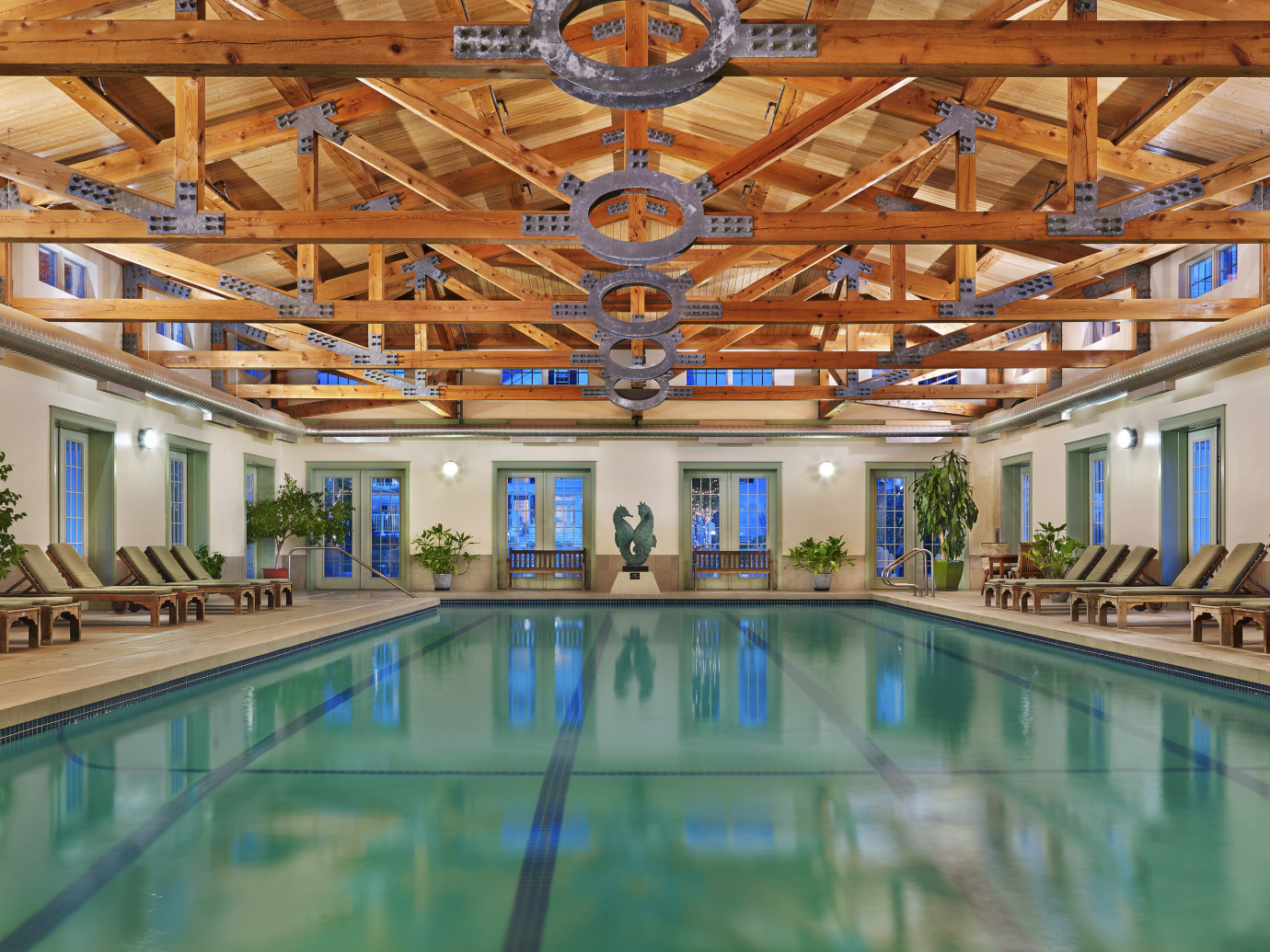 Large indoor pool at Equinox Golf Resort & Spa