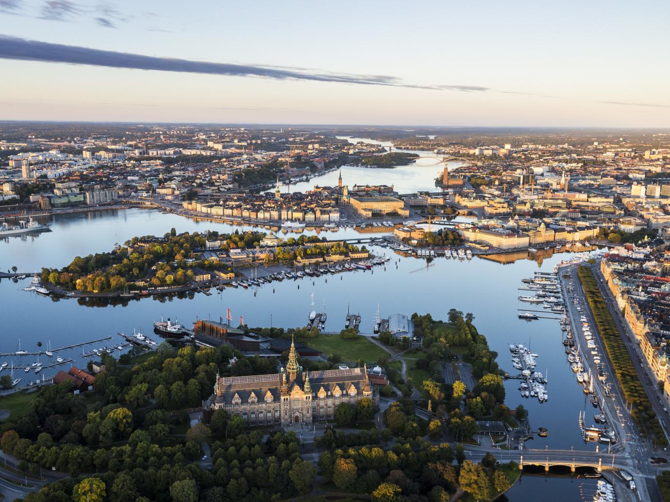 Stockholm aerial shot