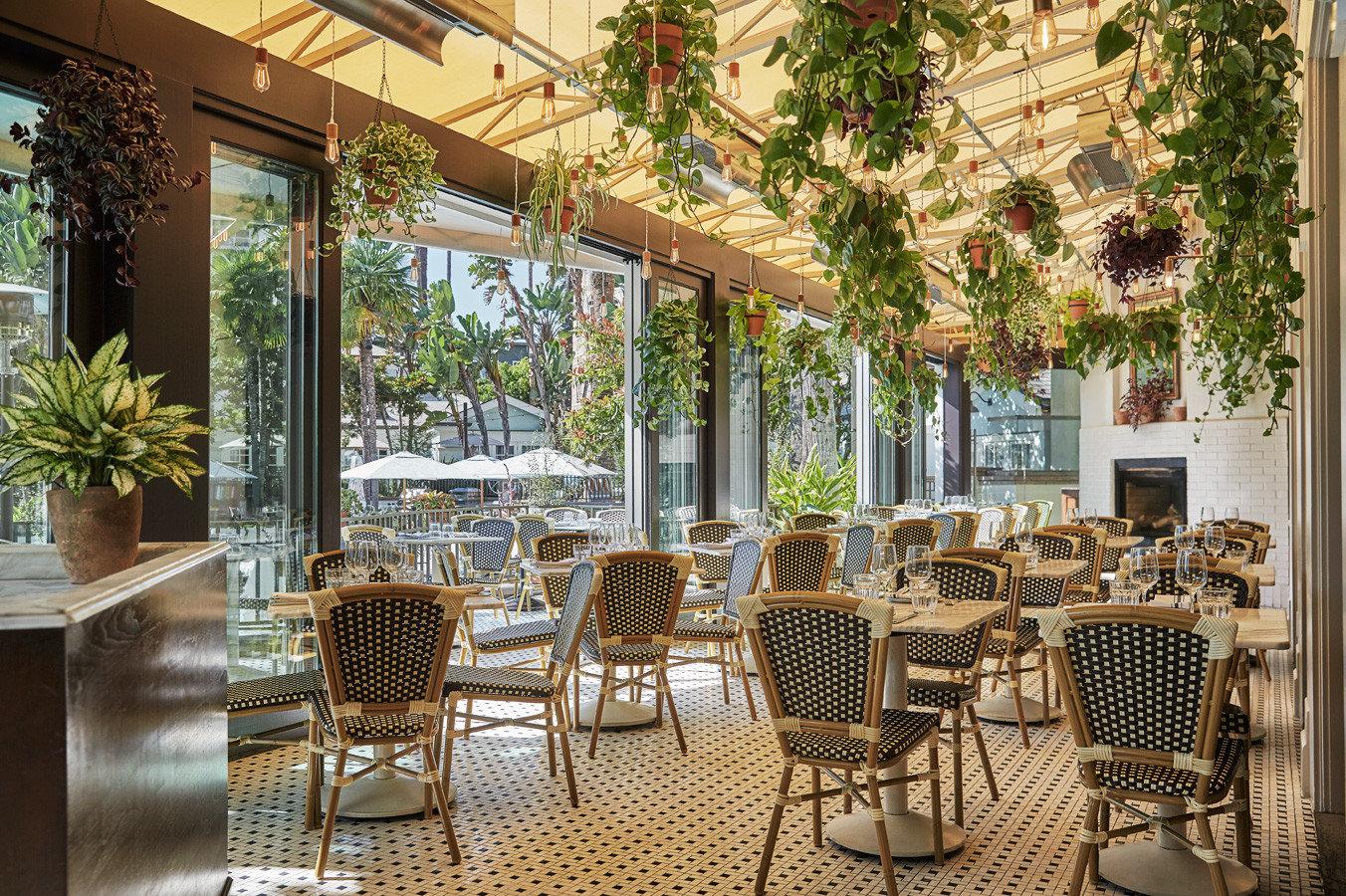 indoor patio at Fig Santa Monica