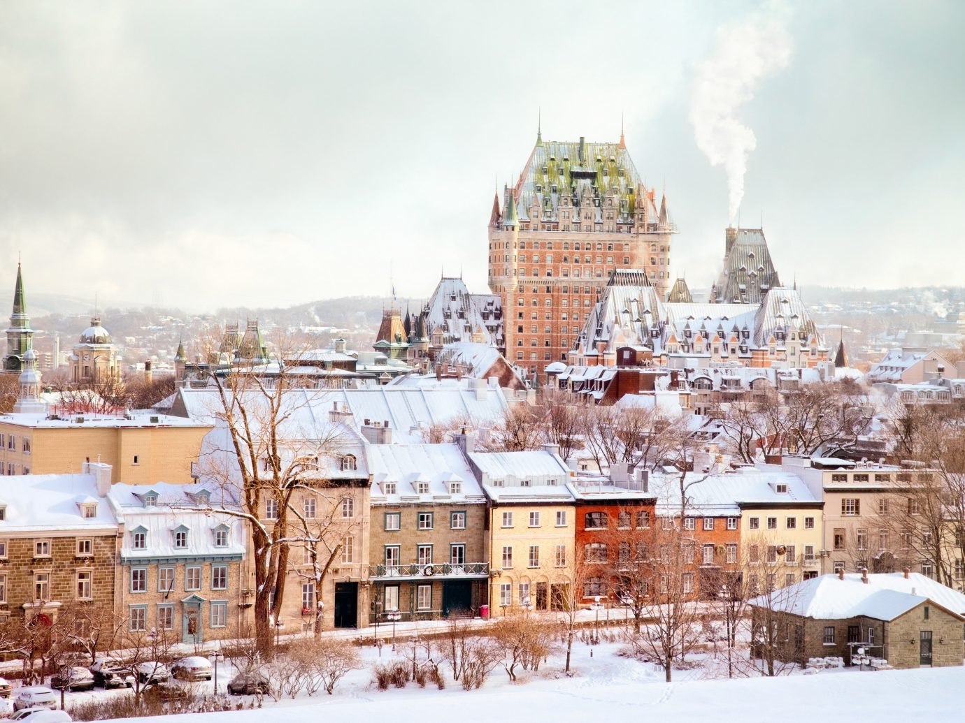 view of Quebec City in winter