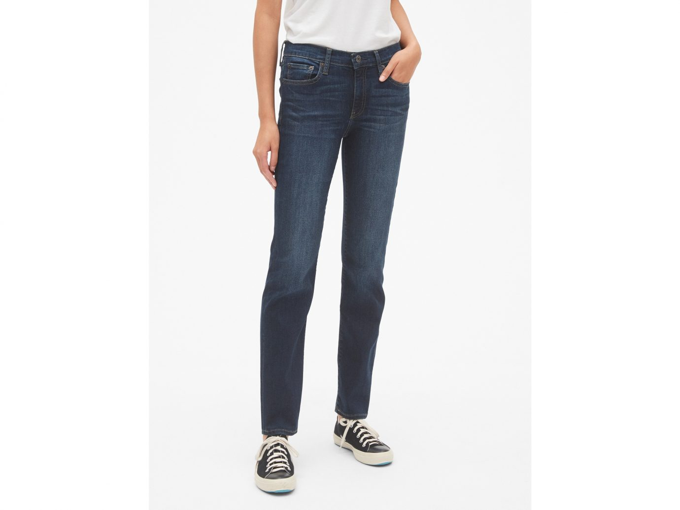Gap Mid-Rise Classic Straight Jeans