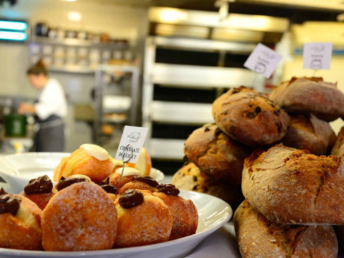 Donuts in a bakery in London