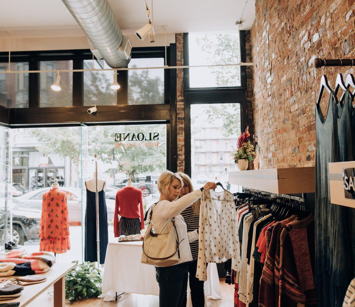 women shopping at Sloane
