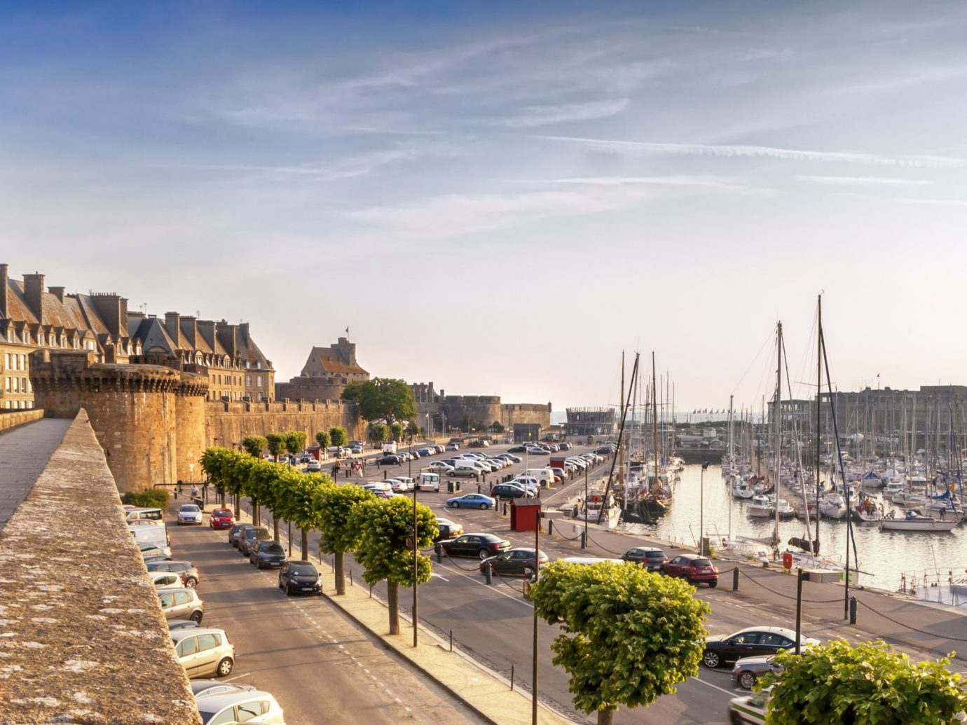 View of St. Malo, France