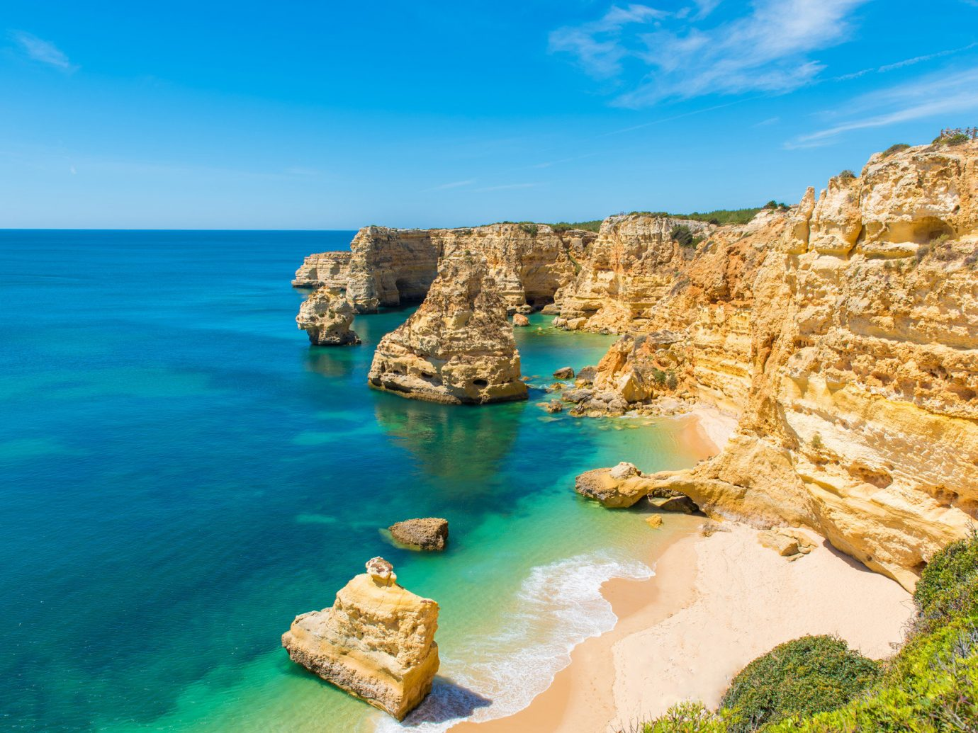 Beach outside of Carvoeiro, Portugal