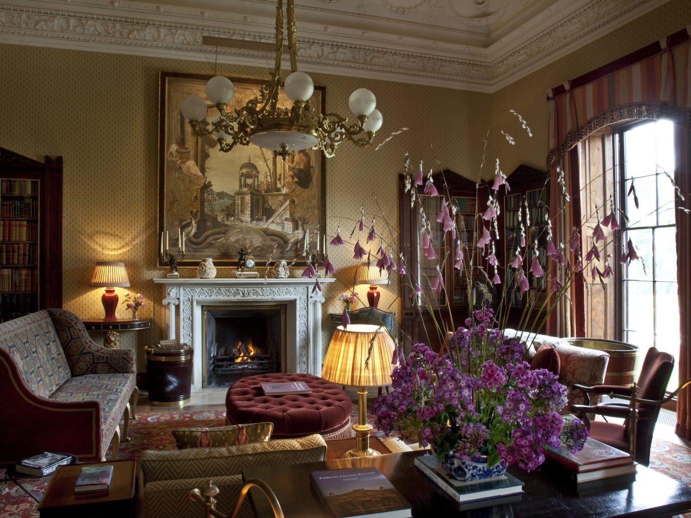 Living room at Ballyfin in Ireland