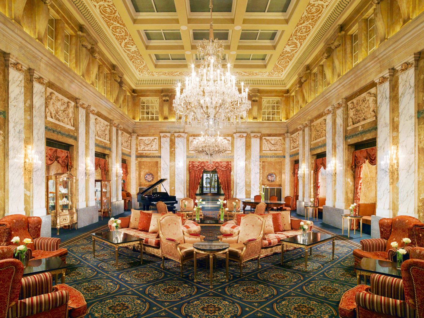 grand hall at Hotel Imperial