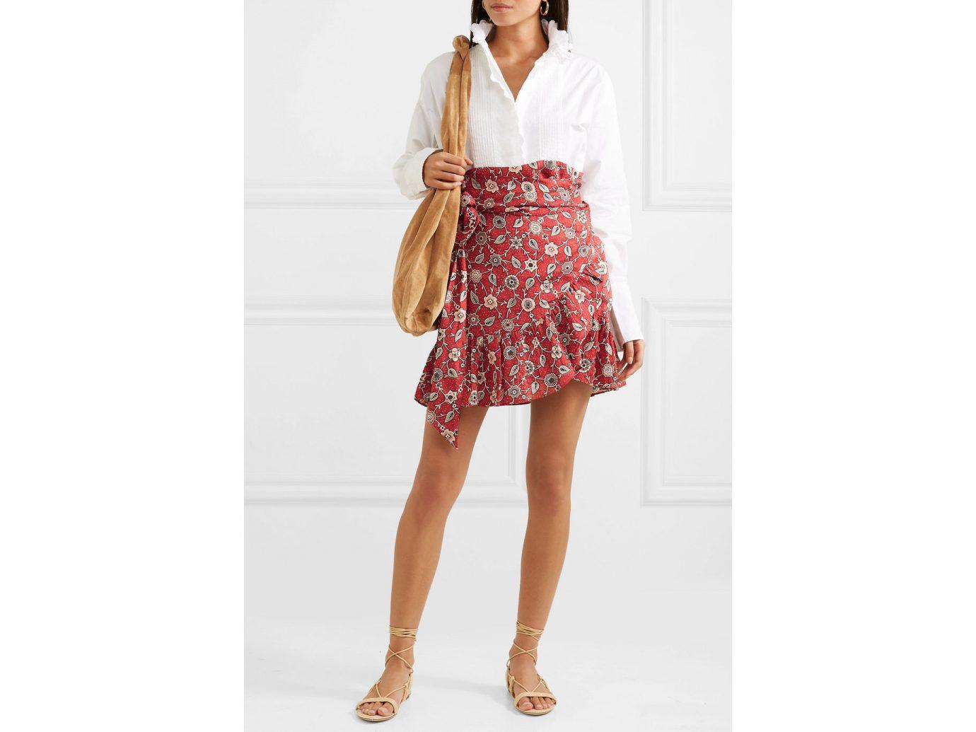 Isabel Marant Étoile Tempster ruffled printed linen mini skirt