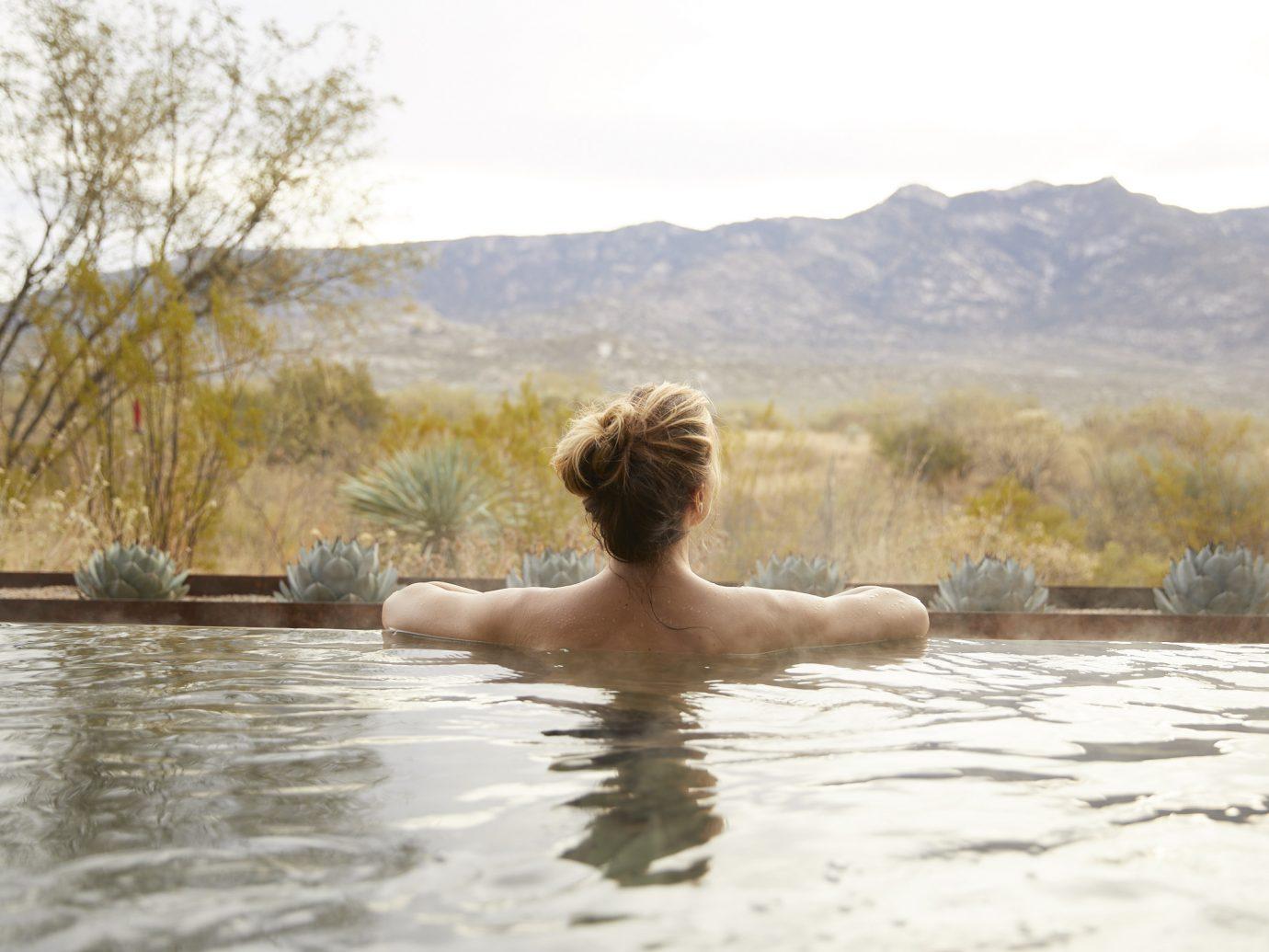 woman in pool at Miraval Resort and Spa, Tucson, AZ