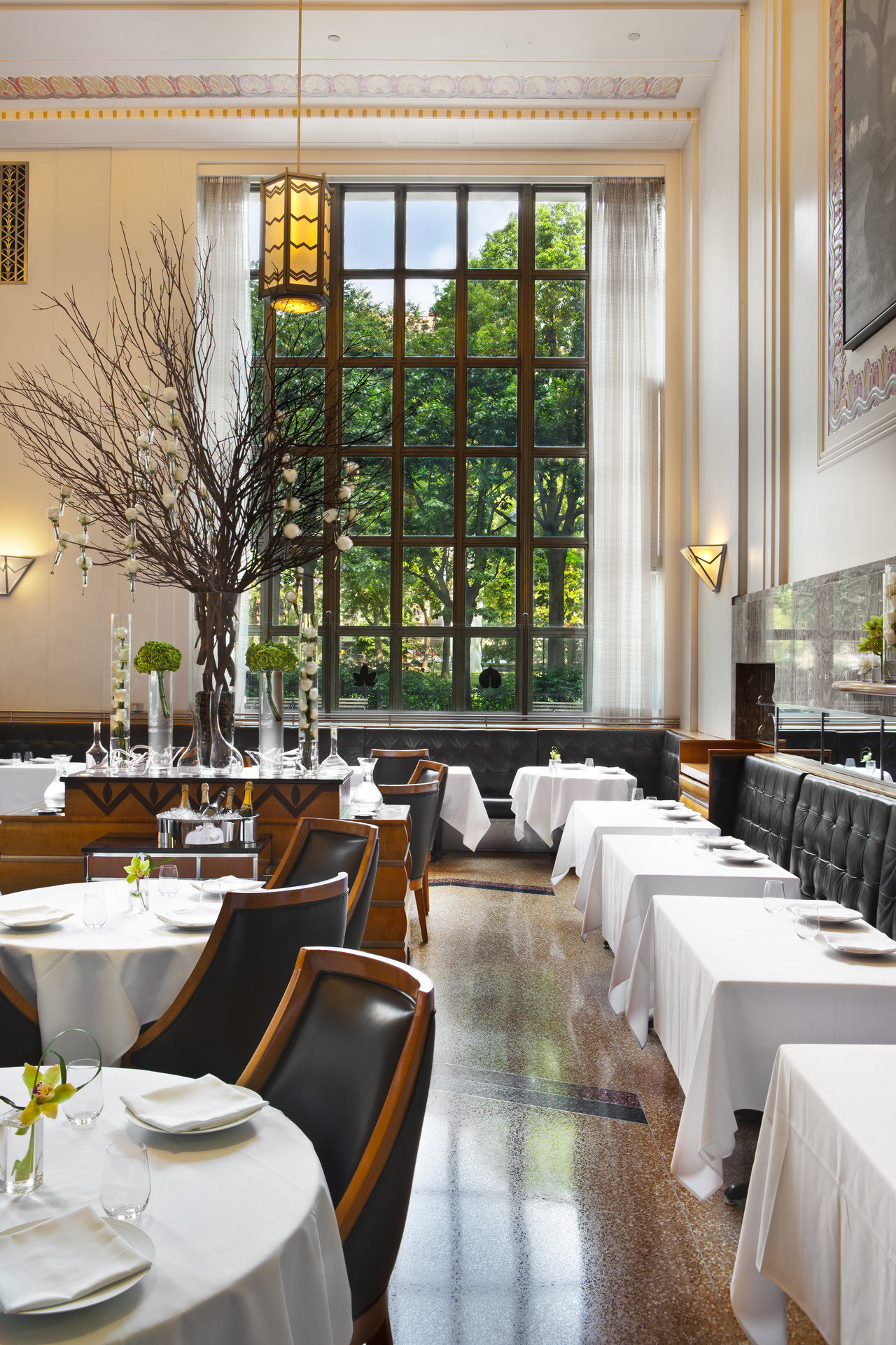 View of Eleven Madison Park restaurant in NYC