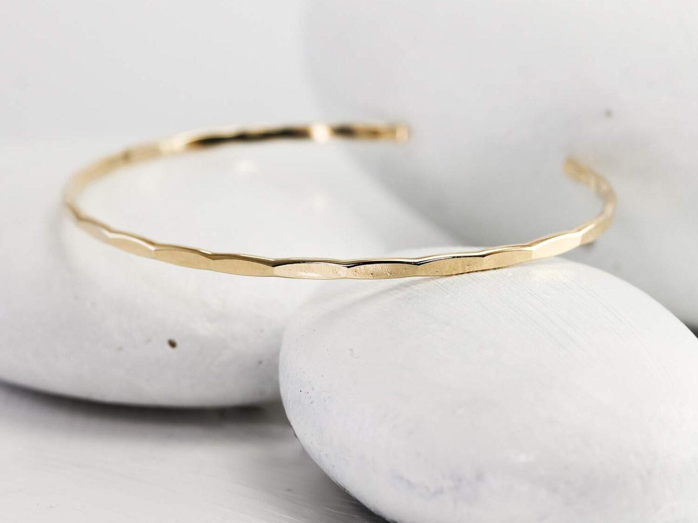 Hammered Gold Fill Handmade Bracelet