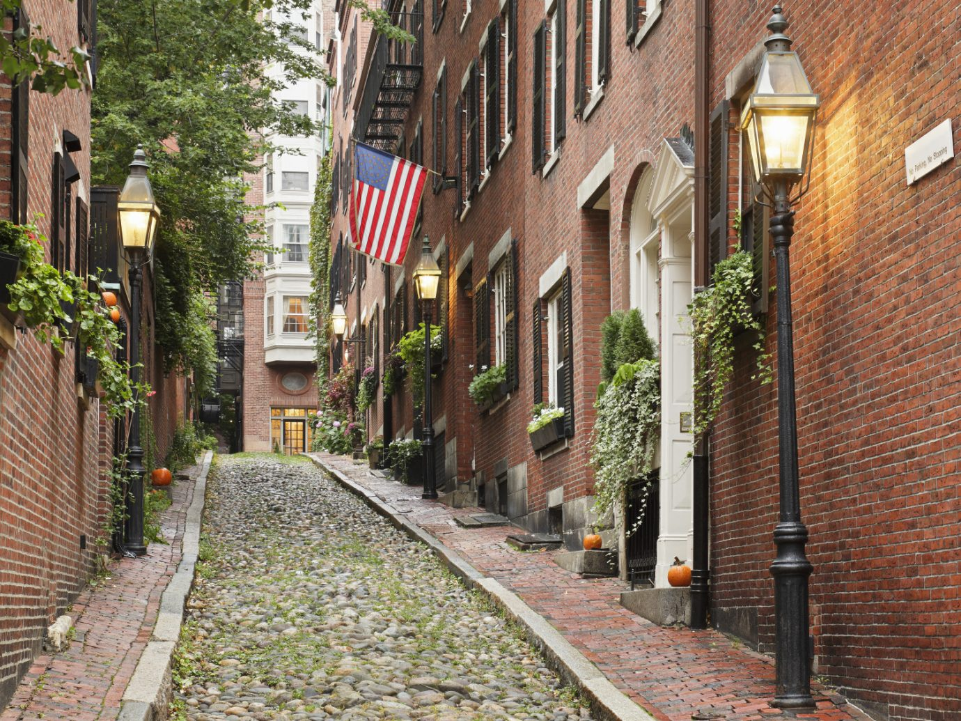 View of an alley in Boston