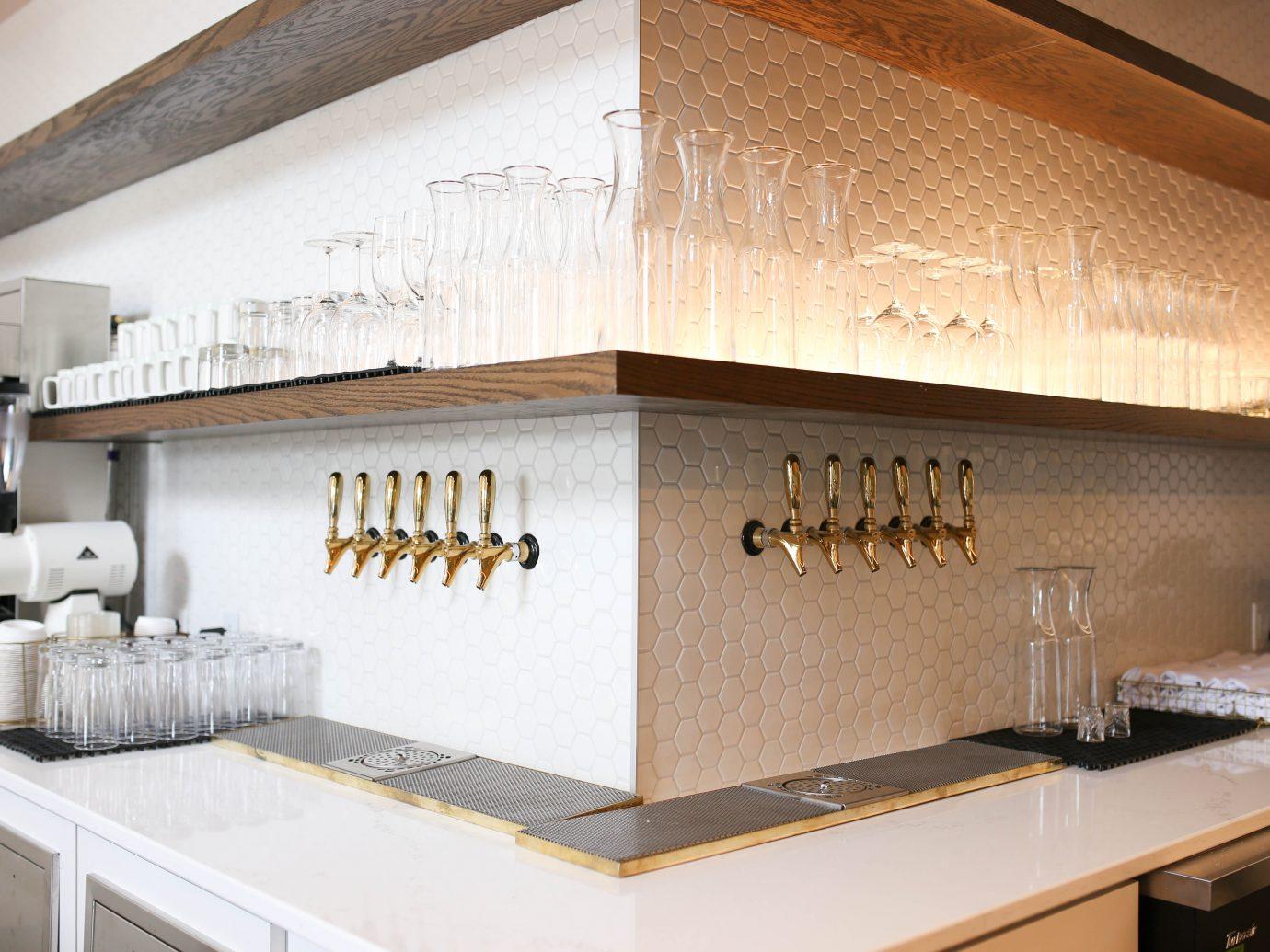On tap beverages in a corner