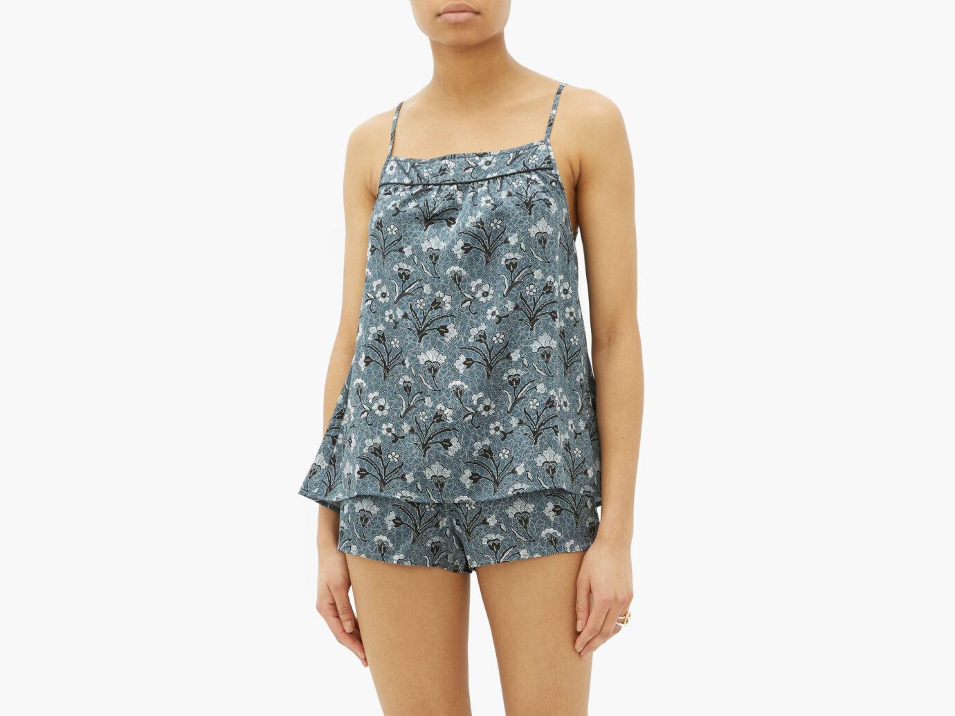Morpho + Luna Coco Mirage-Print Silk Pyjamas