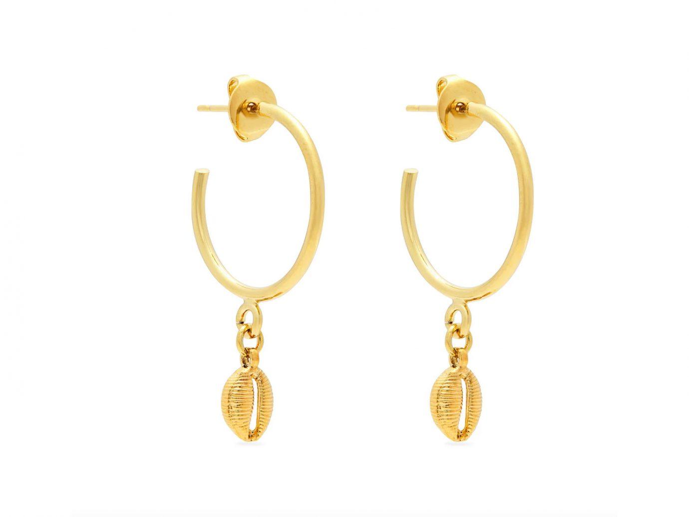 Isabel Marant Shell drop hoop earrings