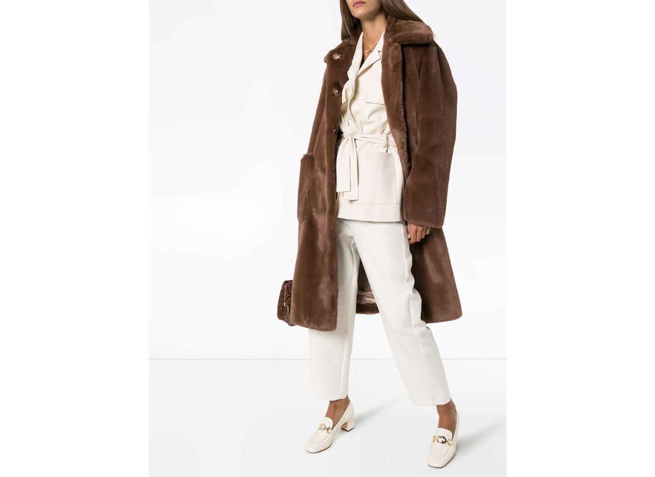 Stand Studio Taylor faux fur midi-coat