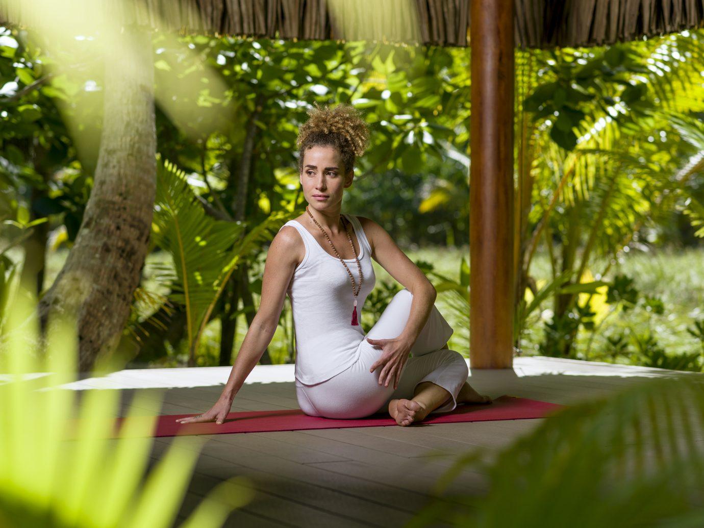 yoga at The Brando, Tetiaroa, Tahiti