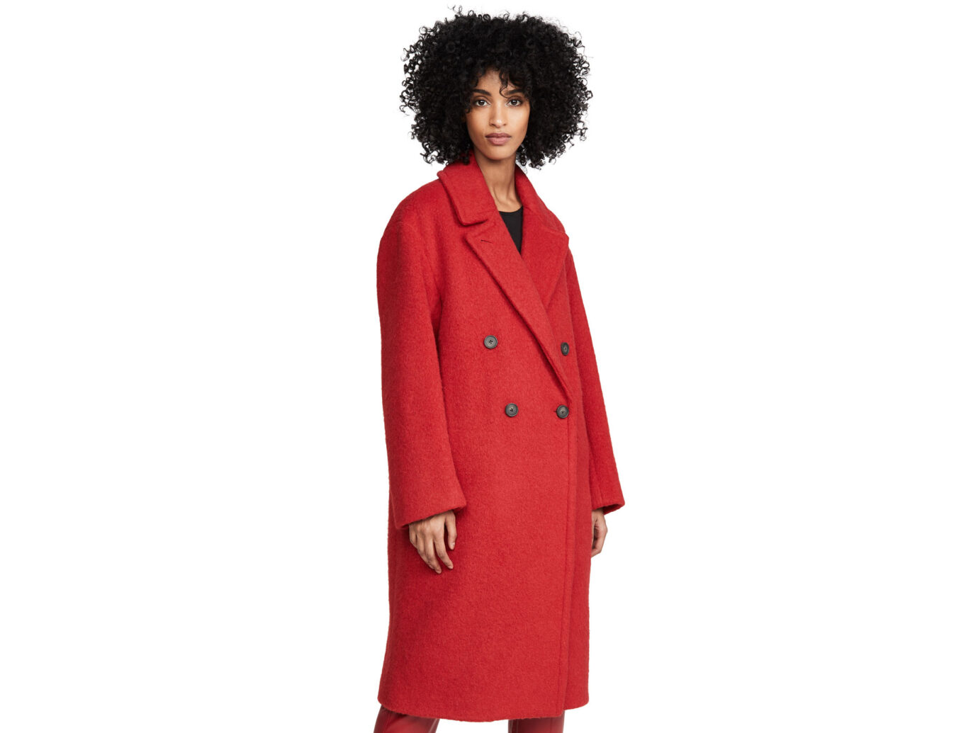 Vince Double Breasted Alpaca Long Coat