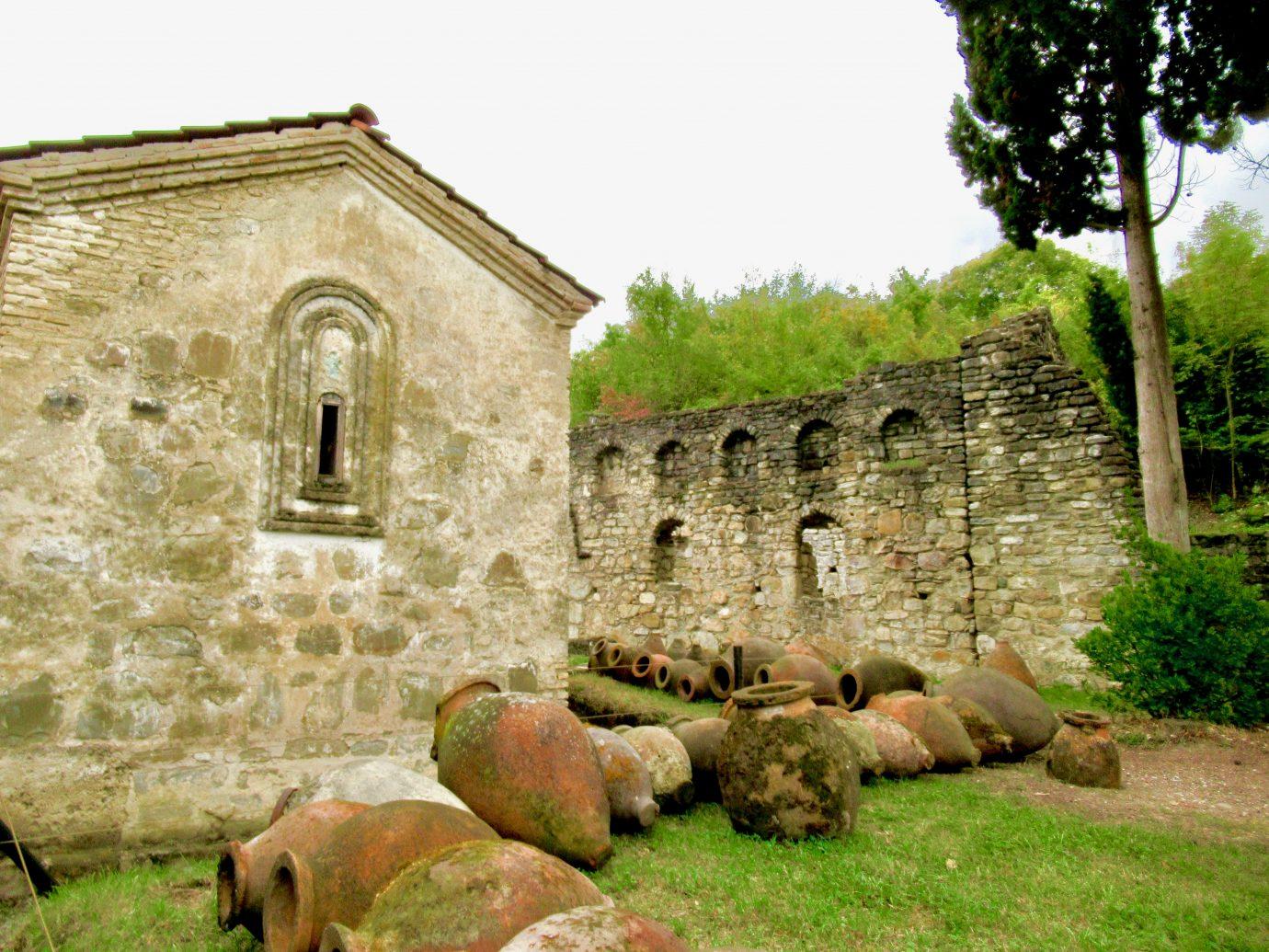 Qvevris in monastery yard