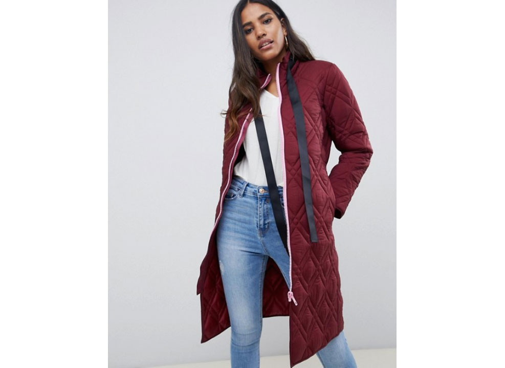 ASOS Design Quilted Longline Puffer Jacket