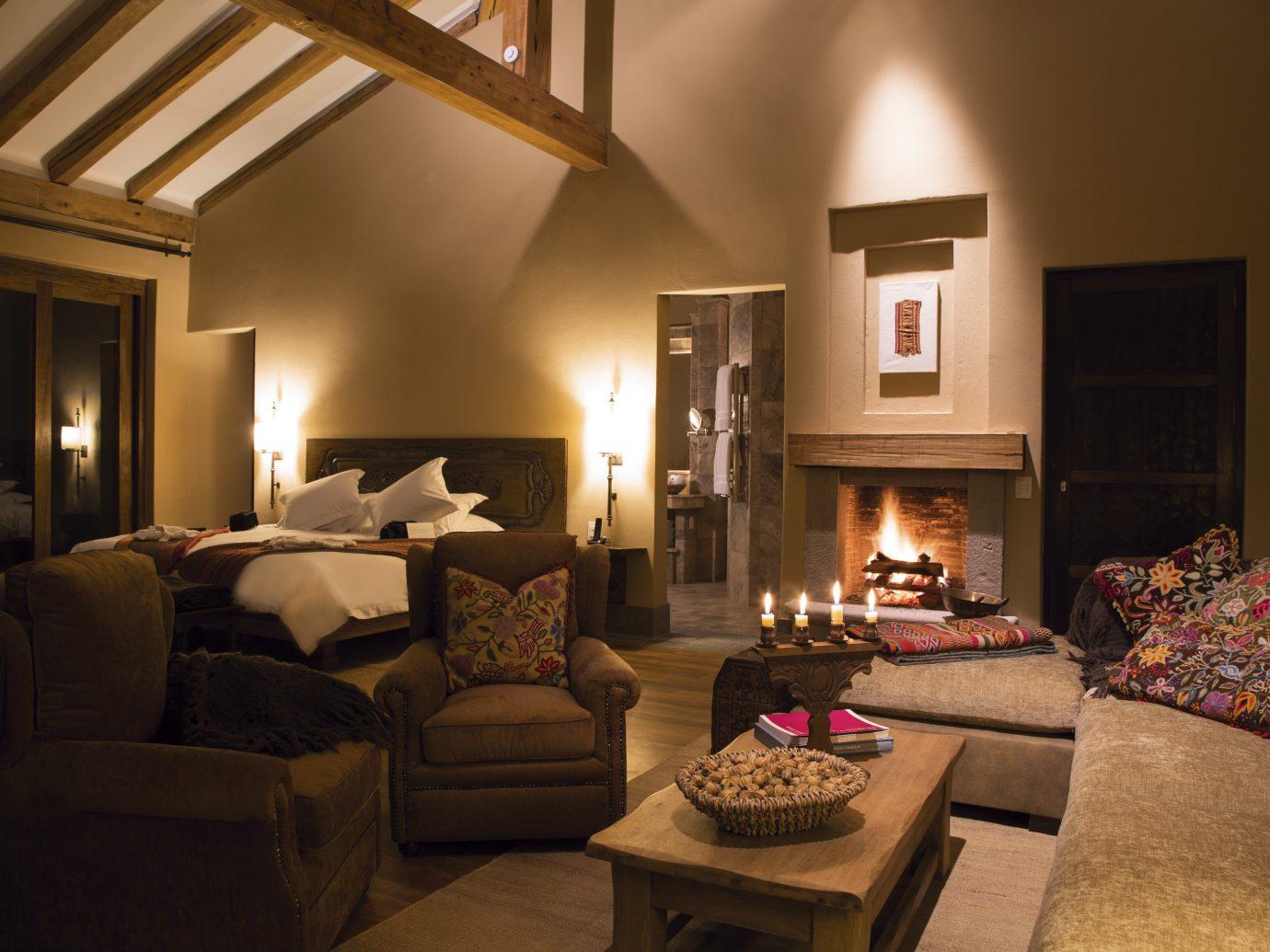 Bedroom at the inkaterra hacienda urubamba
