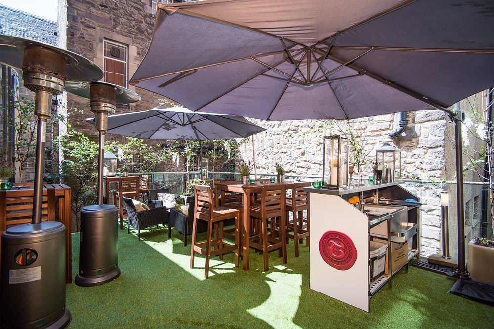 Patio at Radisson Collection, Royal Mile