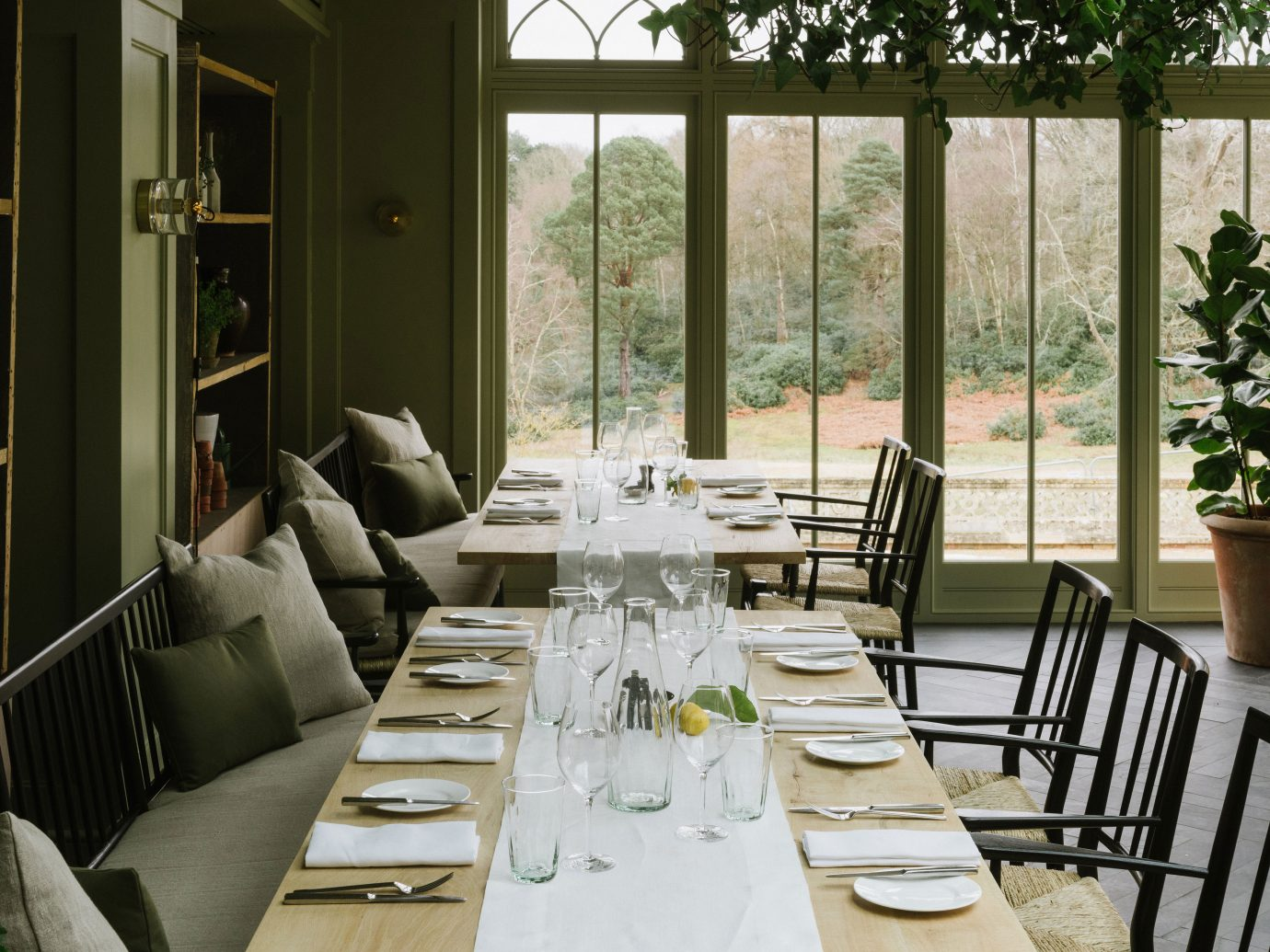 dining table at Heckfield Place