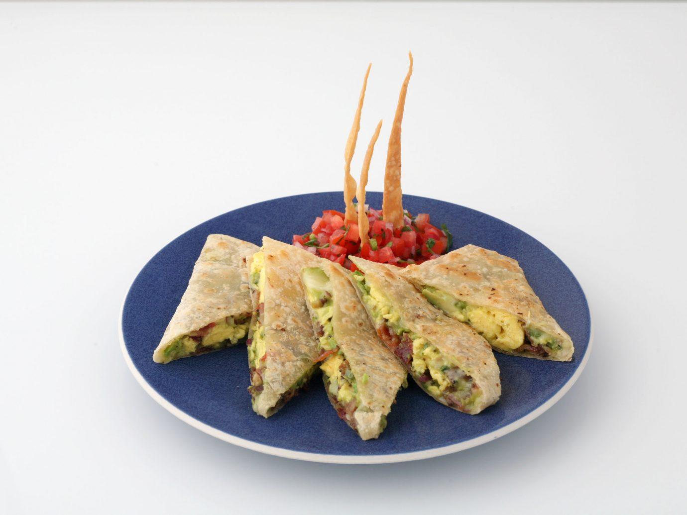 Plate of breakfast quesadillas