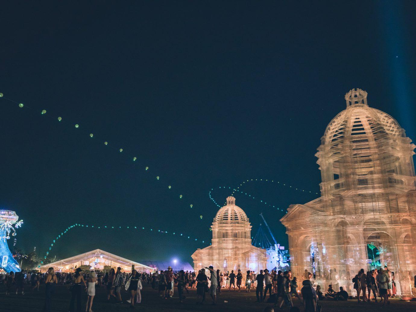 Coachella Music Festival, 2018 at night