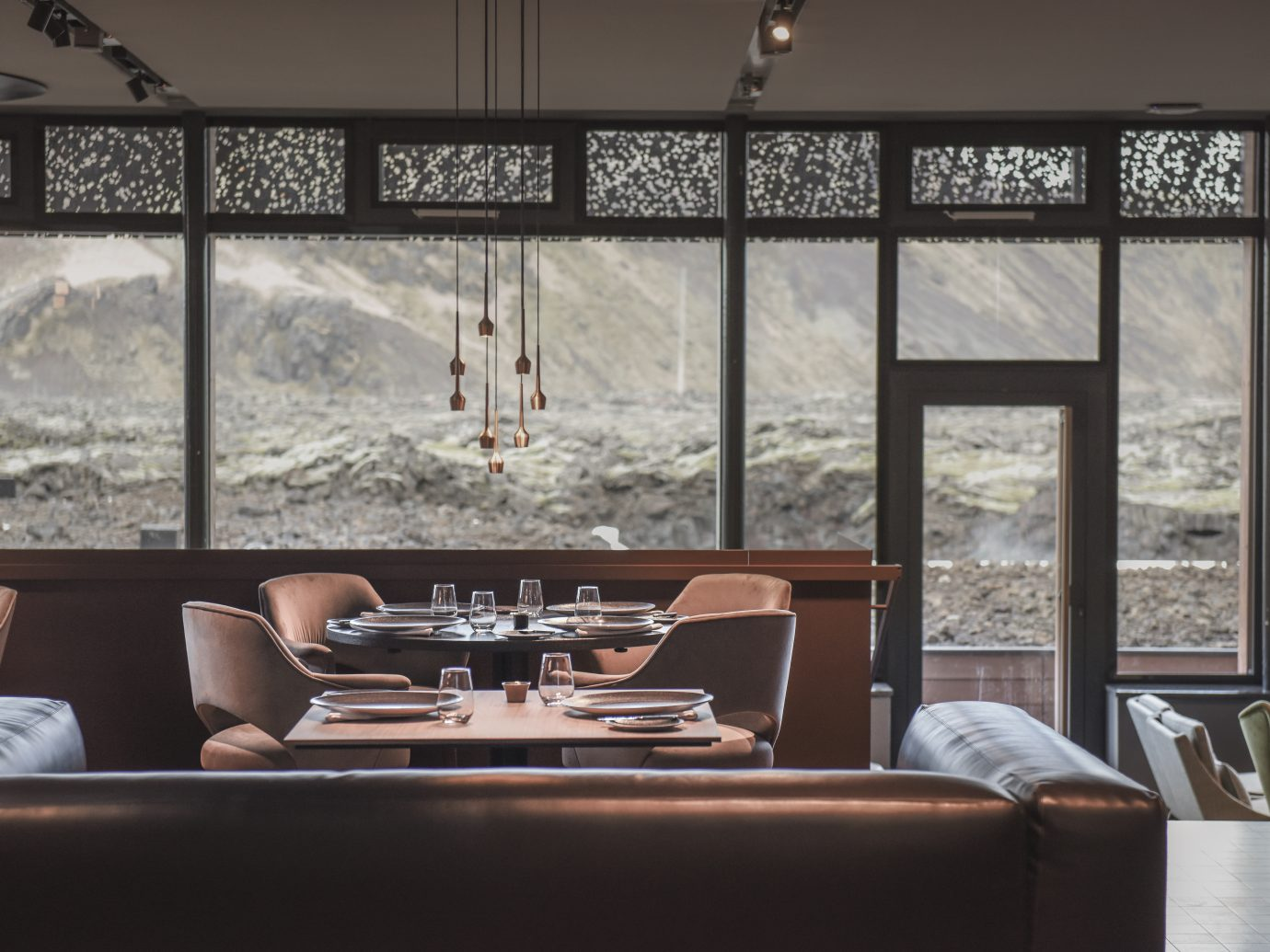 dining at Blue Lagoon Iceland