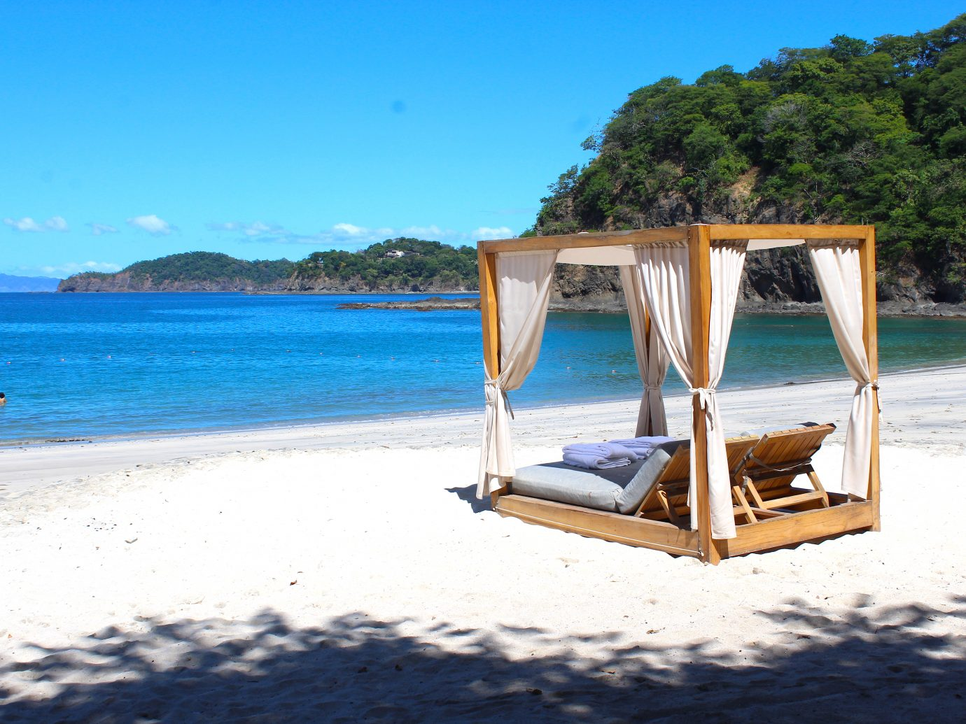 Beach at the Four Seasons resort in Costa Rica