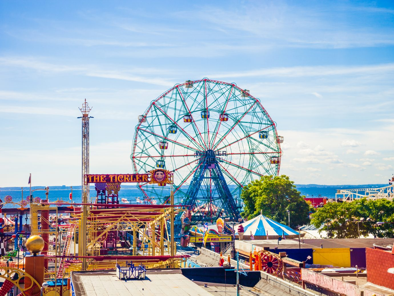 aerial view of Coney Island