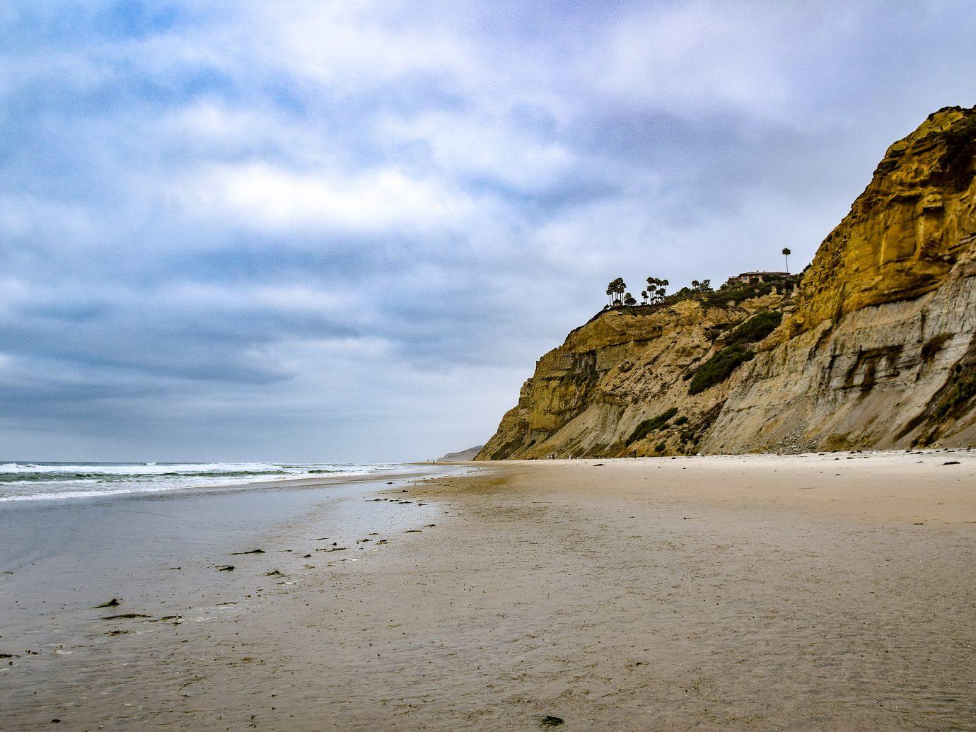 cliffs at Black's Beach in San Diego