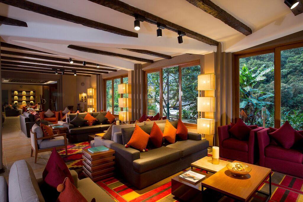 Lobby of the SUMAQ Machu Picchu hotel in Peru