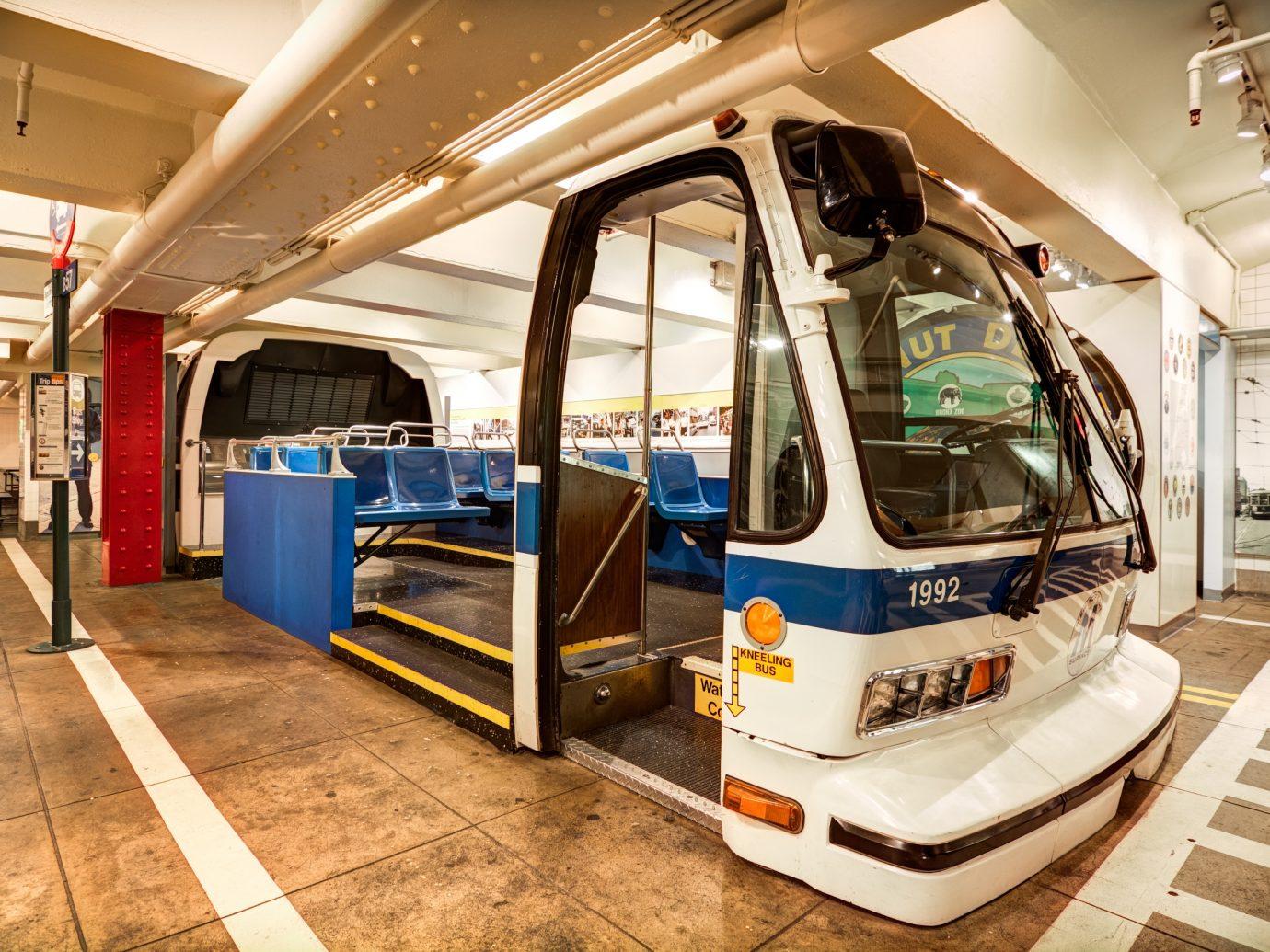 older bus on display