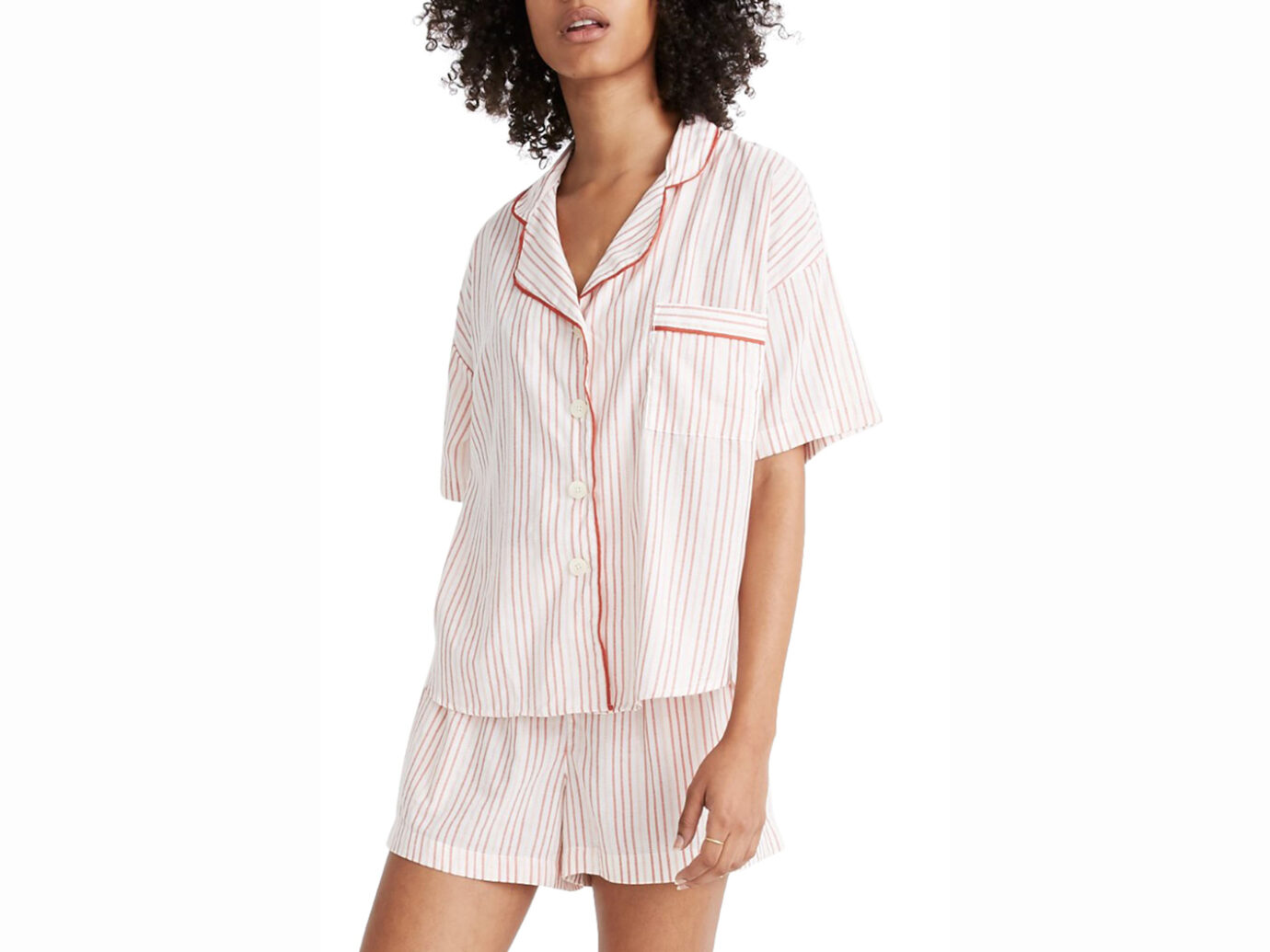 Madewell Shimmer Stripe Pajamas