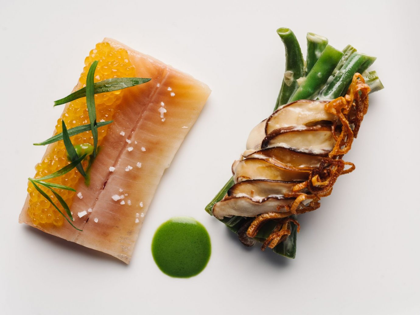 Fish with green beans