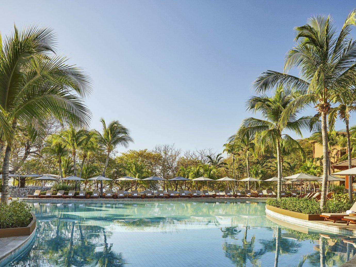 Pool at the Four Seasons resort in Costa Rica