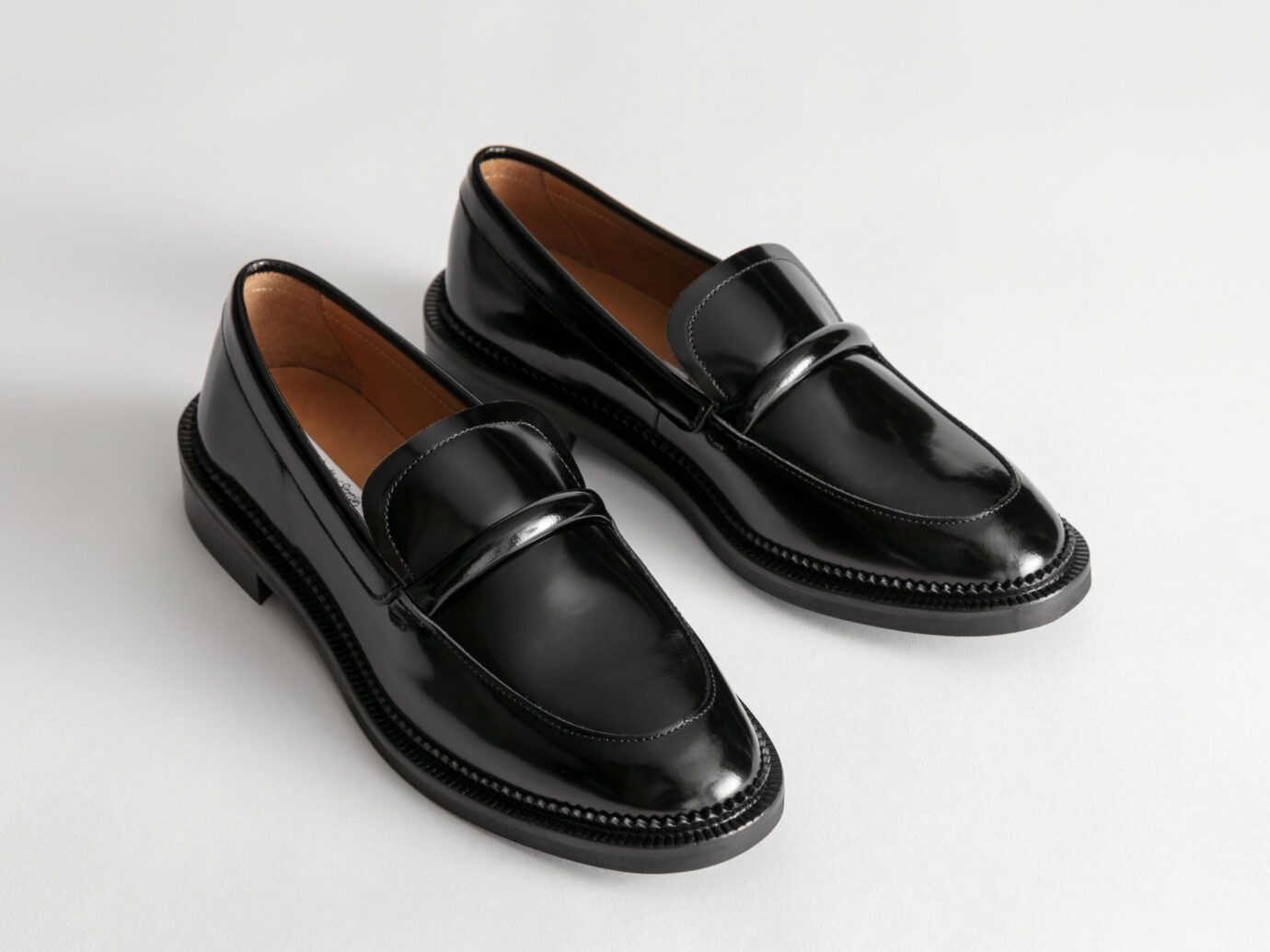 & Other Stories Leather Penny Loafers