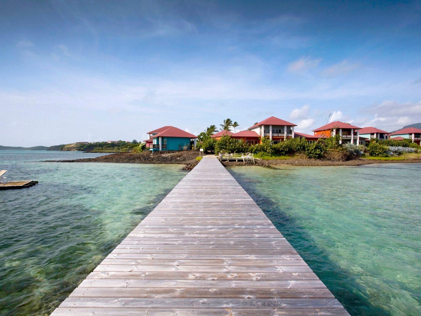 Bridge leading to Le Cap Est Lagoon Resort