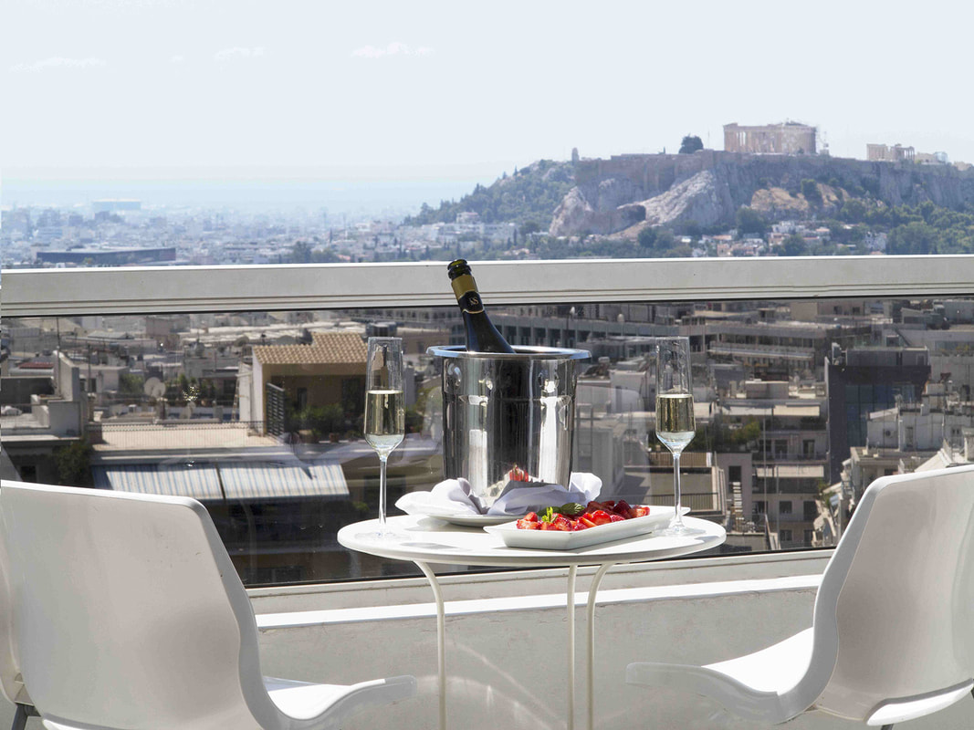 Patio view of St George Lycabettus Lifestyle Hotel