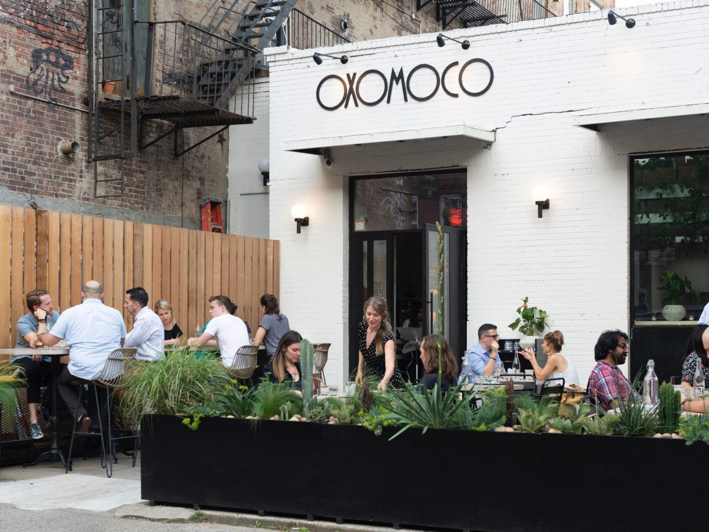 Outside dining at Oxomoco in Brooklyn