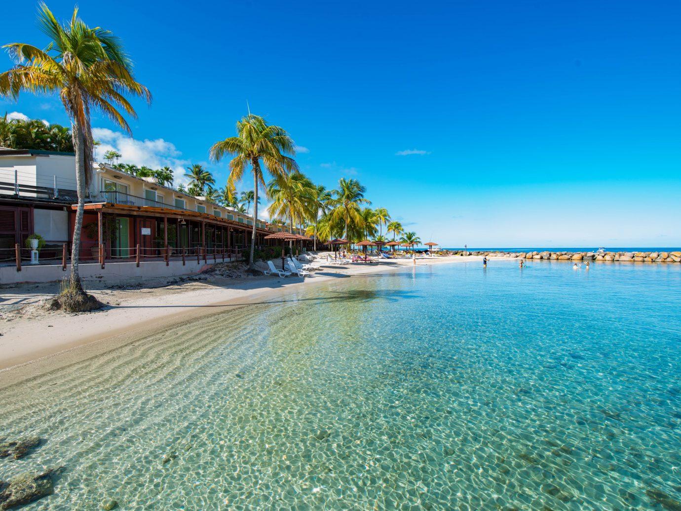 Beachfront at Hotel Bakoua in Martinique