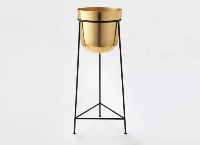Project 62 Brass Planter With Stand