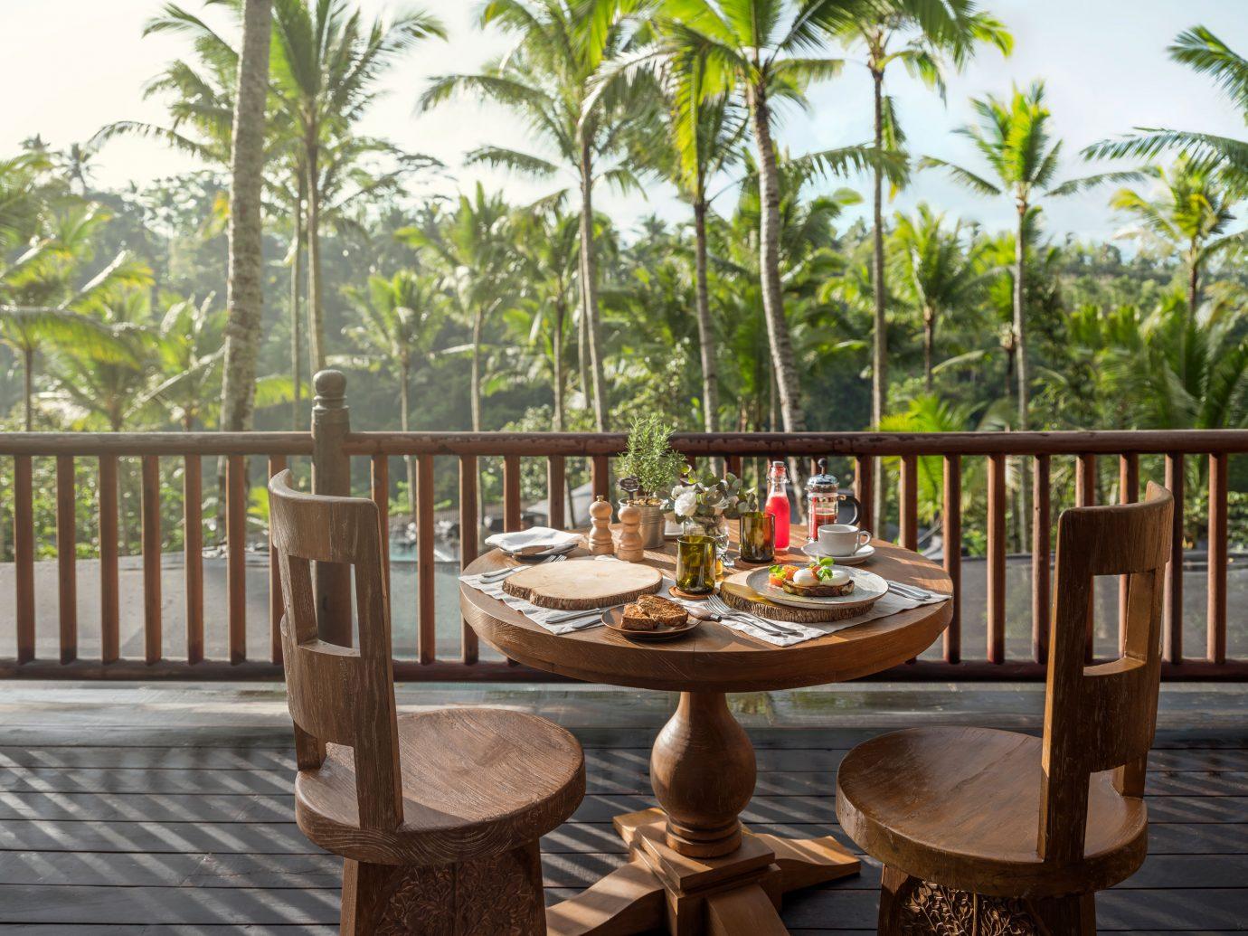 Capella Ubud dining outdoors