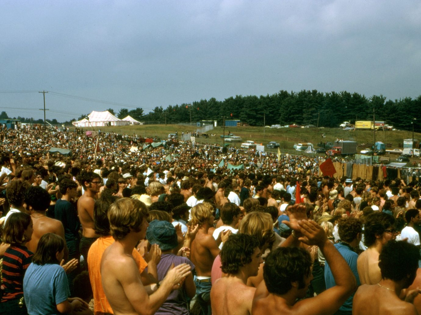 """standing ovation after Santana performed """"Soul Sacrifice"""" at Woodstock in 1969"""