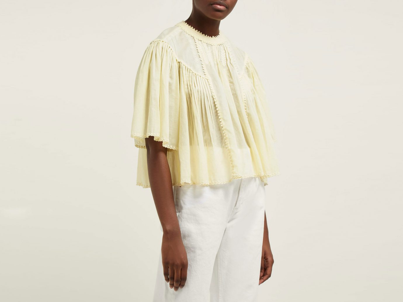 Isabel Marant Etoile Algar Embroidered Cotton Blouse