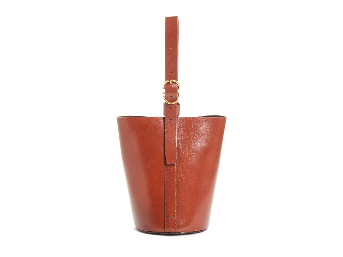Trademark Small Leather Bucket Bag