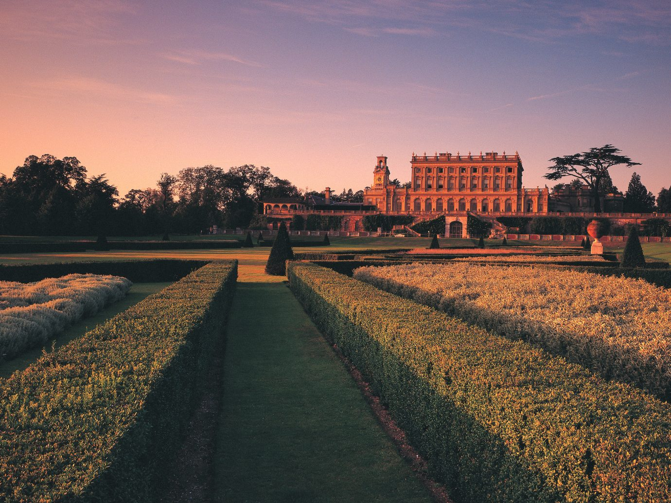 exterior and field front of Cliveden House