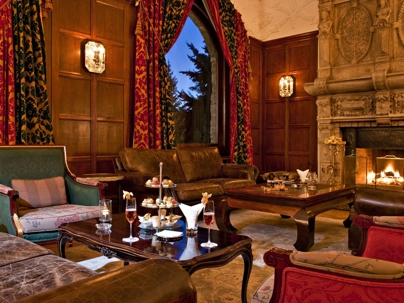 Lounge in Carlton Hotel in St. Moritz